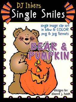 Bear Pumpkin - Single Smiles Clip Art Image