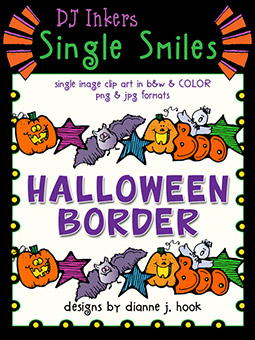 Halloween Border - Single Smiles Clip Art Image