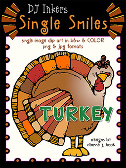 Turkey - Single Smiles Clip Art Image