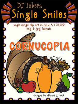 Cornucopia - Single Smiles Clip Art Image