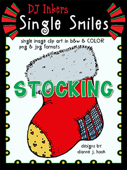 Stocking - Single Smiles Clip Art Image