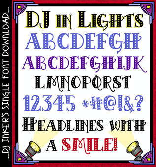 DJ In Lights Font Download