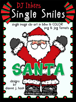 Santa - Single Smiles Clip Art Image -NEW!