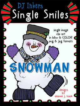 Snowman - Single Smiles Clip Art Image -NEW!