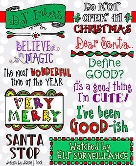 Very Merry Sayings Clip Art Download