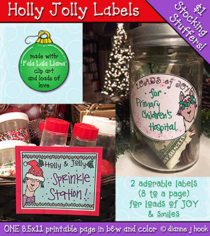 Holly Jolly Labels Printable Download