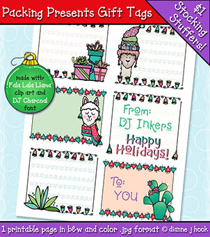 Packing Presents Gift Tags Printable Download