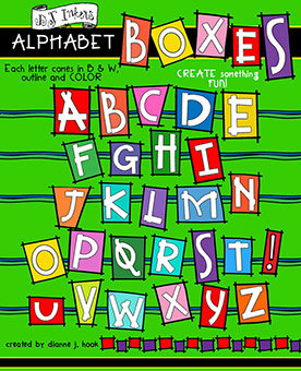 Boxes Clip Art Alphabet Download