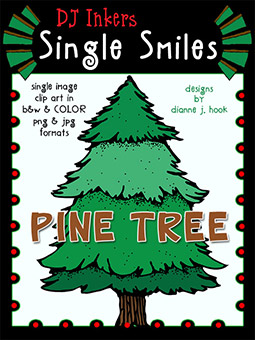 Pine Tree - Single Smiles Clip Art Image