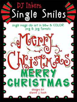 Merry Christmas - Single Smiles Clip Art Image