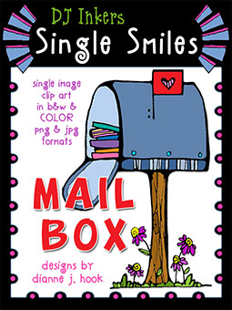 Mailbox - Single Smiles Clip Art Image
