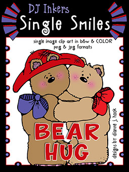 Bear Hug - Single Smiles Clip Art Image