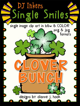 Clover Bunch - Single Smiles Clip Art Image