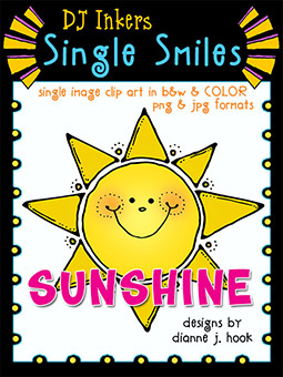 Sunshine - Single Smiles Clip Art Image -NEW!