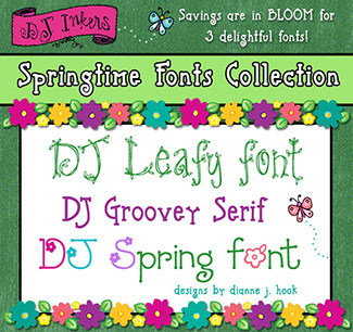 DJ Springtime Fonts Collection Download