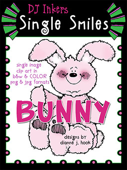 Bunny - Single Smiles Clip Art Image