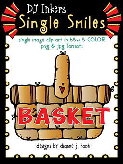 Basket - Single Smiles Clip Art Image -NEW