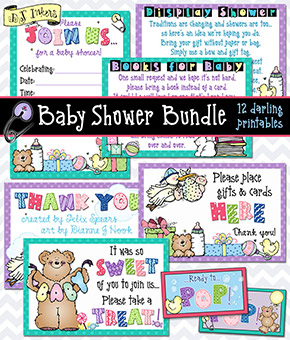 Baby Shower Bundle Printables and Activities Download
