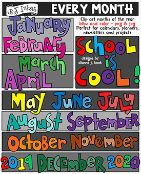 Every Month Clip Art Download