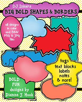 Big Bold Shapes and Borders Clip Art Download
