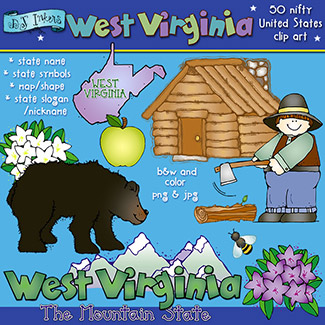 West Virginia USA Clip Art Download