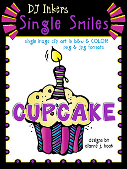 Cupcake - Single Smiles Clip Art Image