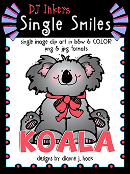 Koala - Single Smiles Clip Art Image