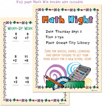 Fun clip art border for math class by DJ Inkers