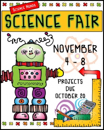 Science Fair and Math Wiz clip art for Kids by DJ Inkers