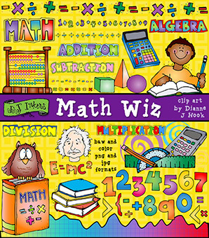 Math Wiz Clip Art Download -NEW!