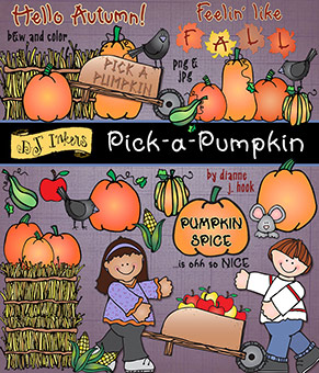 Pick a Pumpkin Clip Art Download -NEW!