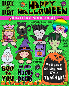 Trick or Treat Peekers Clip Art Download