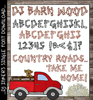 DJ Barn Wood Font Download -NEW!