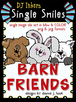 Barn Friends - Single Smiles Clip Art Image -NEW!