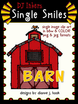 Barn - Single Smiles Clip Art Image -NEW!