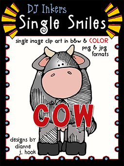 Cow - Single Smiles Clip Art Image -NEW!