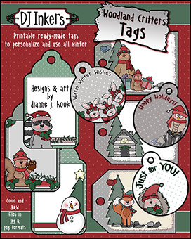 Woodland Critters Printable Gift Tags Download -NEW!