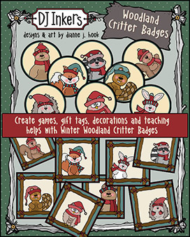 Woodland Critters Printable Badges and Buttons Download -NEW!