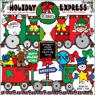 Holiday Express Clip Art Download -NEW!