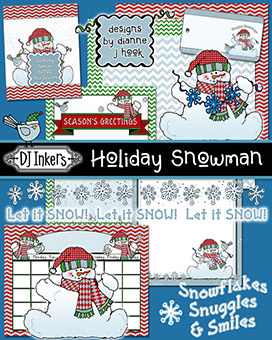Holiday Snowman Clip Art and Printables Download -NEW!