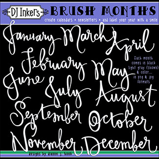 Brush Months Clip Art Download