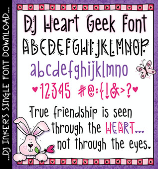 DJ Heart Geek Font Download -NEW!