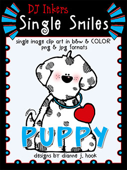 Puppy - Single Smiles Clip Art Image