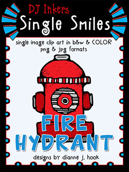 Fire Hydrant - Single Smiles Clip Art Image