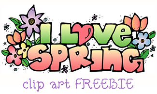 I Love Spring Clip Art FREEBIE