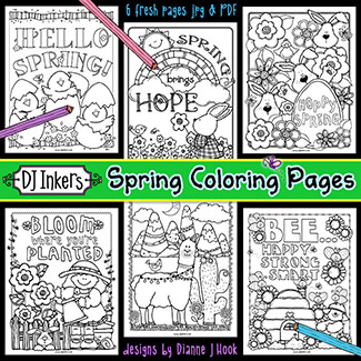 Spring Coloring Pages Printable Download