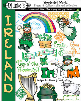 Ireland - Wonderful World Clip Art Download -NEW!