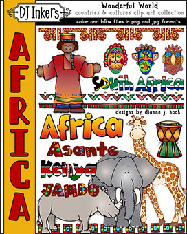 Africa - Wonderful World Clip Art Download -NEW!