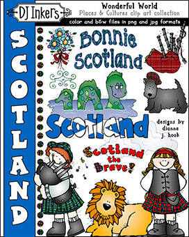 Scotland - Wonderful World Clip Art Download -NEW!