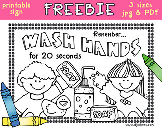 Wash Your Hands Printable Freebie